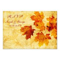 fall autumn brown wedding rsvp standard 3.5 x 5 card