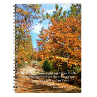 Fall Autumn Christian Scripture Bible Verse Notebook