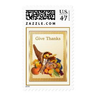 Fall Autumn Cornucopia Thanksgiving Postage
