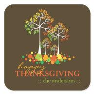 Fall / Autumn Family Tree Thanksgiving Sticker