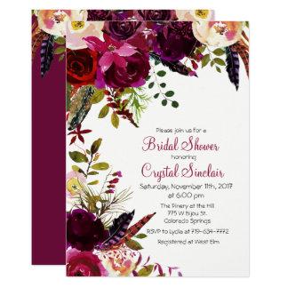 Fall Autumn Fl Bridal Shower Invitation