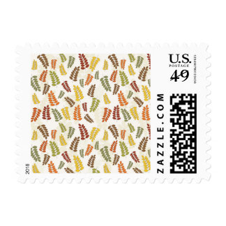 Fall Autumn Harvest Branches Leaves Twigs Pattern Postage Stamps