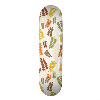 Fall Autumn Harvest Branches Leaves Twigs Pattern Skateboard