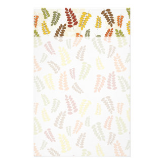 Fall Autumn Harvest Branches Leaves Twigs Pattern Stationery