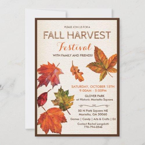 Fall Autumn Harvest Festival Invitation