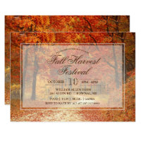 Fall Autumn Harvest Festival Invitation