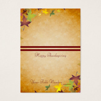 Fall Autumn Harvest Thanksgiving Table Placecard Business Card
