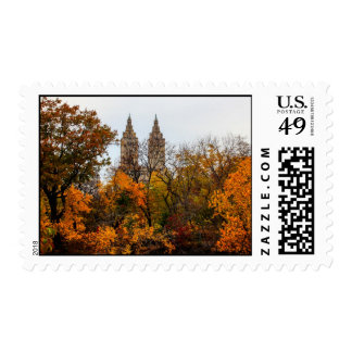 Fall Autumn Landscape Photo of Central Park Postage