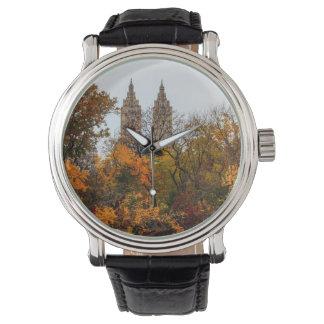 Fall Autumn Landscape Photo of Central Park Wristwatch