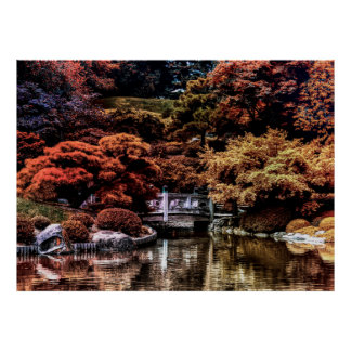 Fall Autumn Landscape Photo of Park Poster
