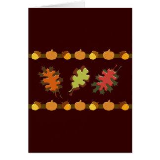 Fall Autumn Leaves Acorns Design Greeting Card