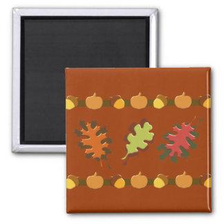 Fall Autumn Leaves Acorns Design Refrigerator Magnets