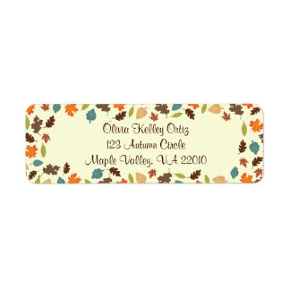 Fall Autumn Leaves Address Labels