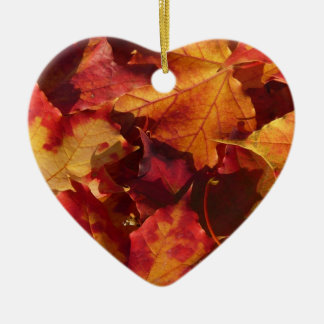 Fall Autumn Leaves Ceramic Ornament