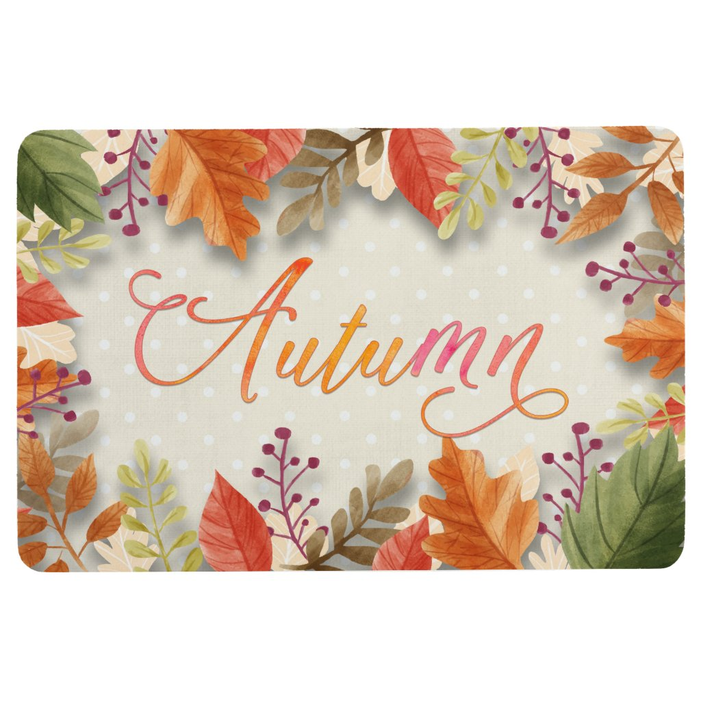 Fall - Autumn Leaves Framed Beig