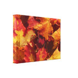 Fall Autumn Leaves Gallery Wrapped Canvas