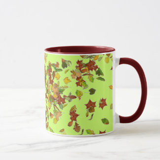 FALL / AUTUMN LEAVES, Green Mug