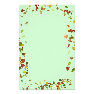 FALL / AUTUMN LEAVES, Green Stationery