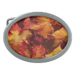 Fall Autumn Leaves Oval Belt Buckle
