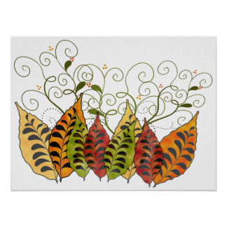 Fall Autumn Leaves Poster