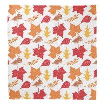 Fall Autumn Leaves Retro Thanksgiving Bandana