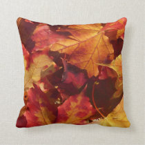 Fall Autumn Leaves Throw Pillow