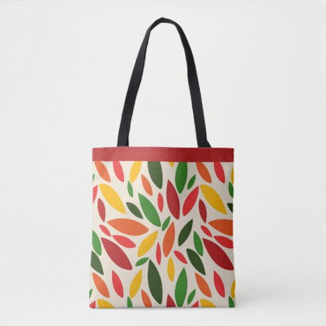 Fall autumn leaves tumbling tote bag