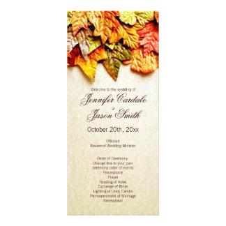 Fall Autumn Leaves Vertical Wedding Programs