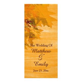Fall Autumn Leaves Wedding Program