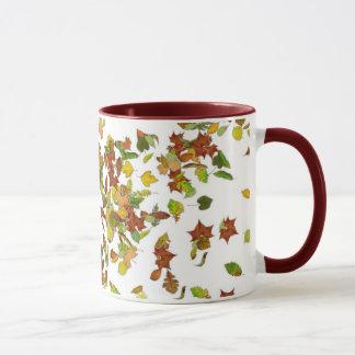 FALL / AUTUMN LEAVES,White Mug