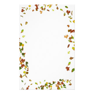 FALL / AUTUMN LEAVES,White Stationery
