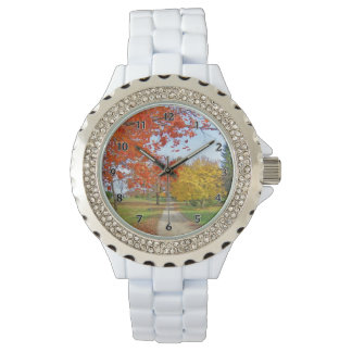 Fall Autumn Leaves Wristwatch