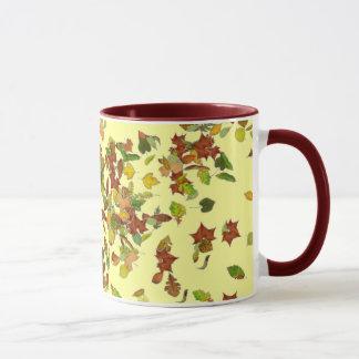 FALL/ AUTUMN LEAVES, Yellow Mug