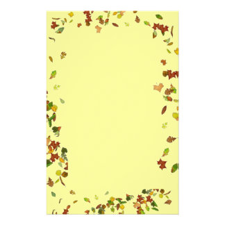 FALL/ AUTUMN LEAVES, Yellow Stationery