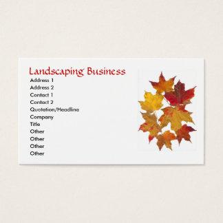 Fall Autumn Maple Leaves Business Card