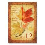 Fall Autumn Maple Leaves Wedding Table Card