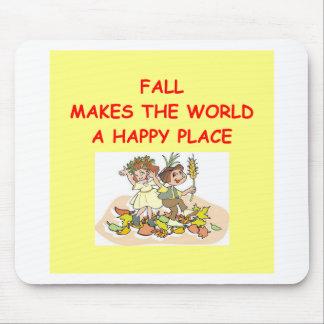 fall autumn mouse pad