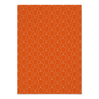 Fall Autumn Orange Acorn Nuts Outline Pattern Card
