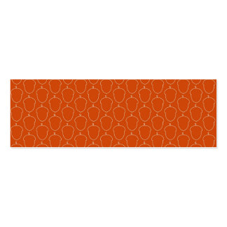 Fall Autumn Orange Acorn Nuts Outline Pattern Mini Business Card