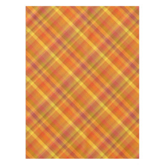 Fall Autumn Orange Plaid Pattern Tablecloth