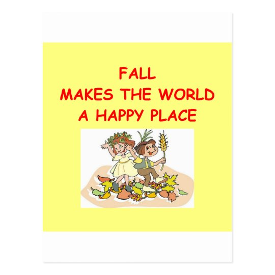 fall autumn postcard