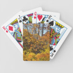 Fall Autumn Scenes Trees Leaves Bicycle Poker Deck