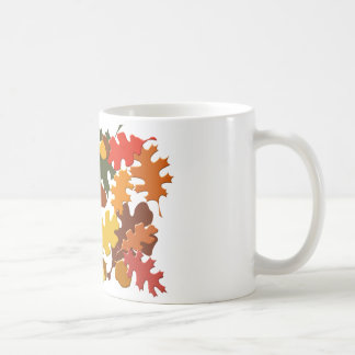 Fall Autumn Season Leaves Oak Design Mug