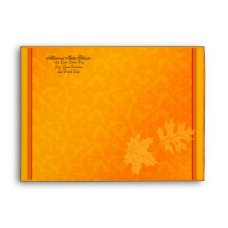 Fall Autumn Thanksgiving A-7 Envelope envelope