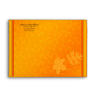 Fall Autumn Thanksgiving A-7 Invitation Envelope