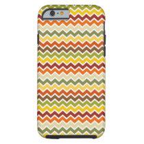 Fall Autumn Thanksgiving Chevron Zigzag Pattern Tough iPhone 6 Case