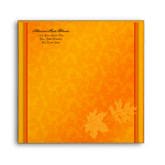 Fall Autumn Thanksgiving Square Envelope