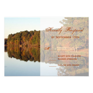 Fall Autumn Trees Leaves Wedding RSVP Cards
