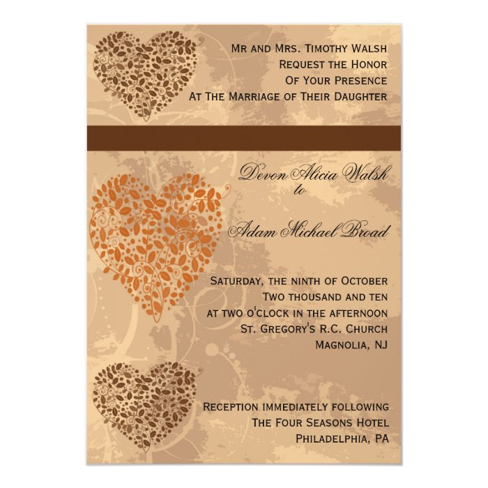 Fall/Autumn Wedding Invitation