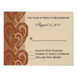 "Fall/Autumn Wedding Invitation RSVP Card 4.25"" X 5.5"" Invitation Card"